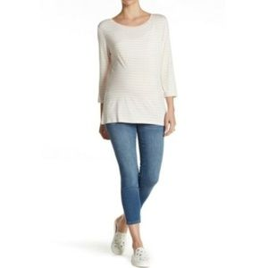 Seven7 Ankle Skinny Belly Panel Maternity Jean